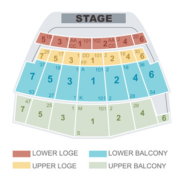 Seating Chart The Warfield